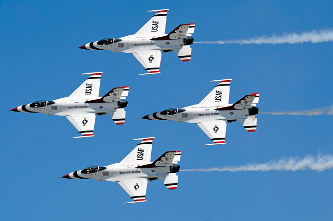 The U.S. Air Force Thunderbirds will perform July 18 and 19 at the Thunder of Niagara air show. (Photo courtesy of the USAF Thunderbirds)