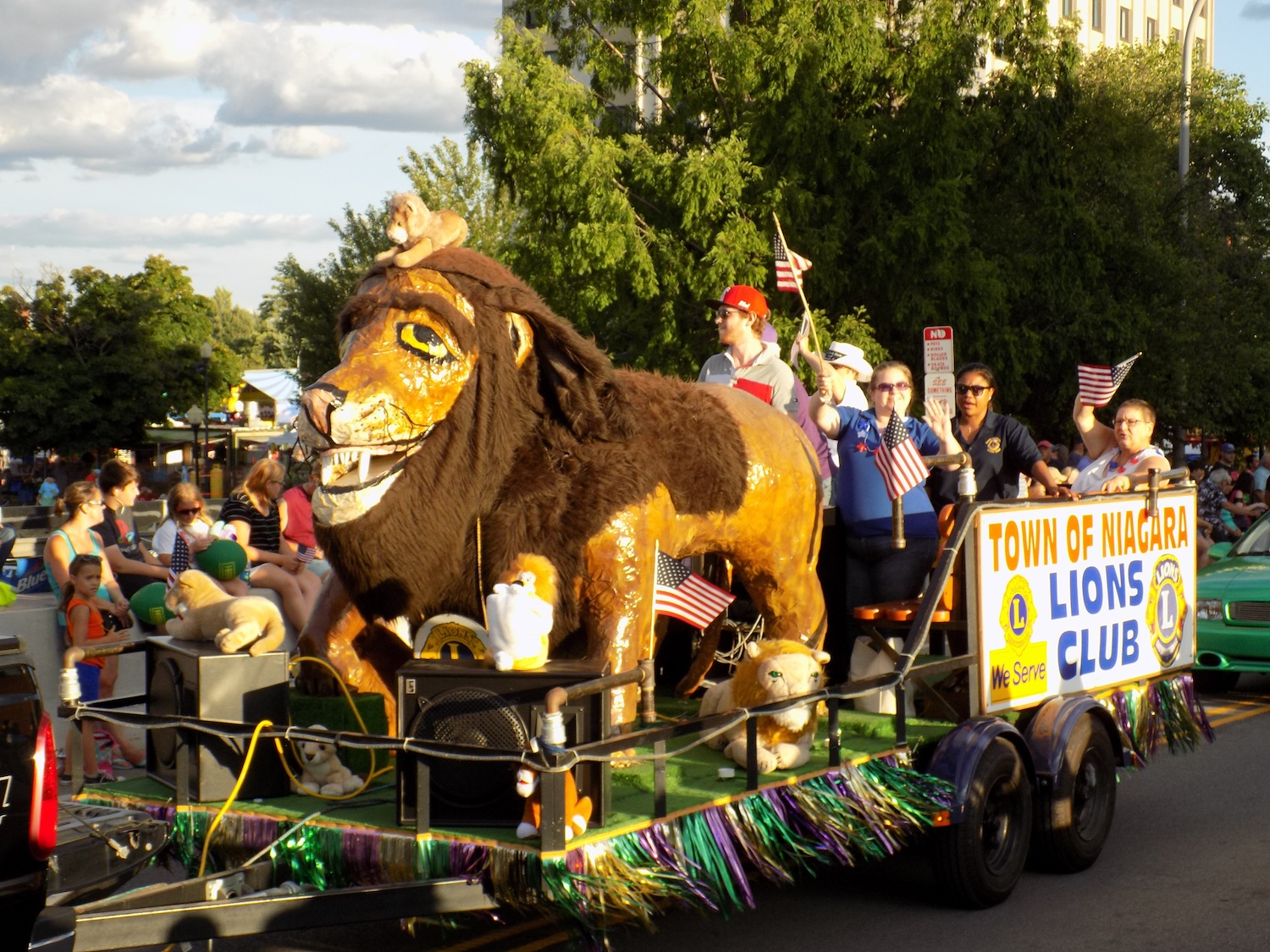 The Town of Niagara Lions Club's float in the Canal Fest Parade.