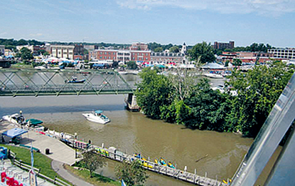 An overhead view of Gateway Harbor in the Tonawandas is shown from the Ferris wheel at the 2013 Canal Fest. This year's event takes place from July 19 to 26. (Photo by Jill Keppeler)