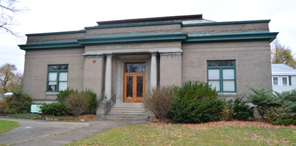 Renovations have been made to the entranceway of the Carnegie Art Center, 240 Goundry St., North Tonawanda.