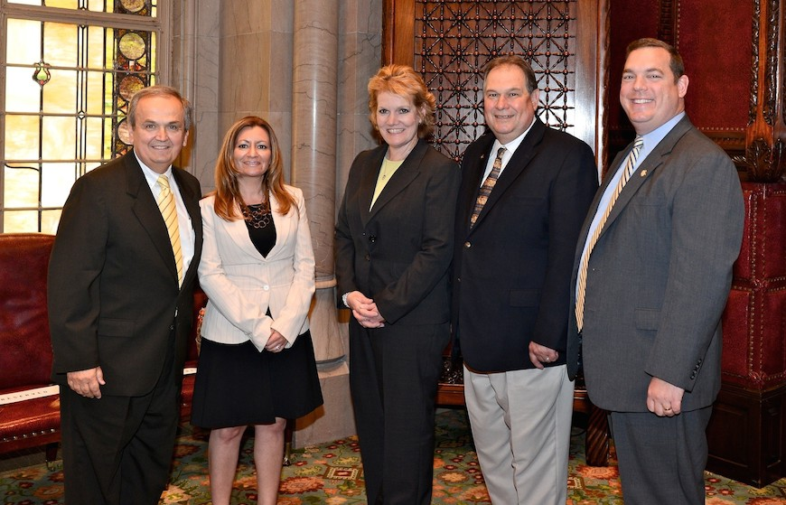 State Sen. George Maziarz, Julie Otto, Monica Daigler, Assemblyman John Ceretto and Assemblyman Ray Walter are pictured in Albany.