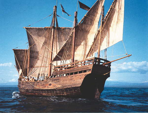 Replicas of the Nina and Pinta will be docked through Wednesday in Buffalo. The public is invited to visit the ships for self-guided tours. (Photos courtesy of the Columbus Foundation)