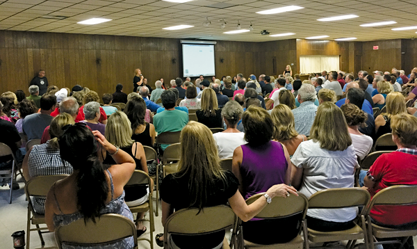 Many residents of Pendleton and Wheatfield attended a public meeting at Wendelville Fire Hall on a proposed National Fuel gas compressor station. (Photo by Mike Pidanick)