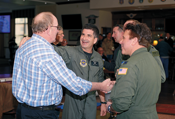 Current and former members of the 914th Airlift Wing came together April 9 at the Niagara Falls Air Reserve Station for the Desert Storm 25th anniversary reunion. (U.S. Air Force photos by Staff Sgt. Richard D. Mekkri)