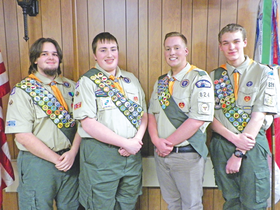From left, Zachary Taylor, Raymond Delucci, Ryan Gross and Alex Beresheski. (Photo by Raymond Delucci Sr.)
