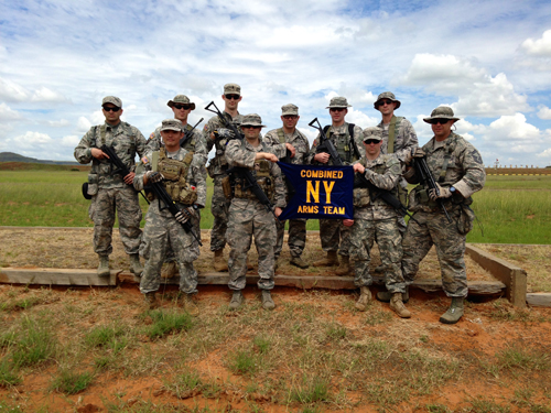 Ten members of the New York Army and Air National Guard who represented the United States at a marksmanship competition in South Africa this month took two second-place awards during the competition held March 4-15.