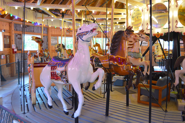 Shown is the reassembled, 100-year-old carousel at North Tonawanda's Herschell Carrousel Factory Museum.