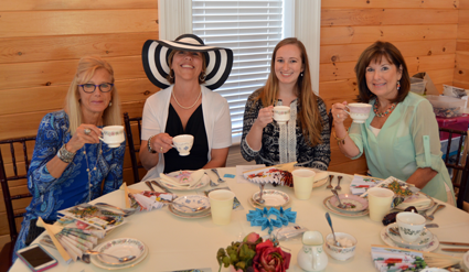 High tea participants