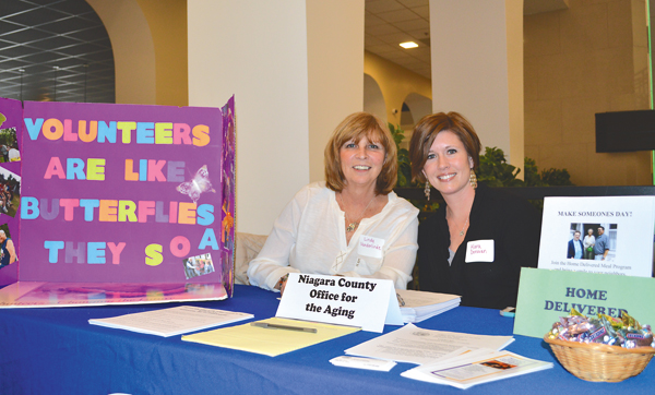 Linda Vanderlinde (left) and Kara Donovan attended LiveNF as representatives of the Niagara County Office for the Aging.