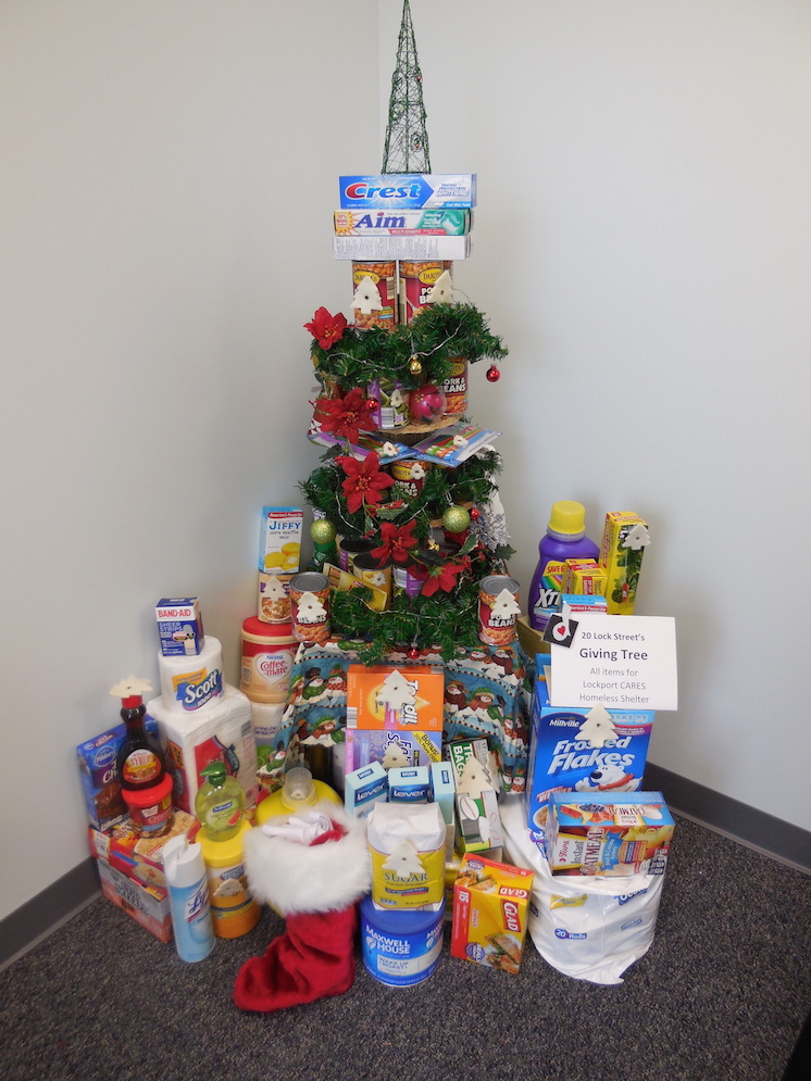 The Dale Association giving tree.
