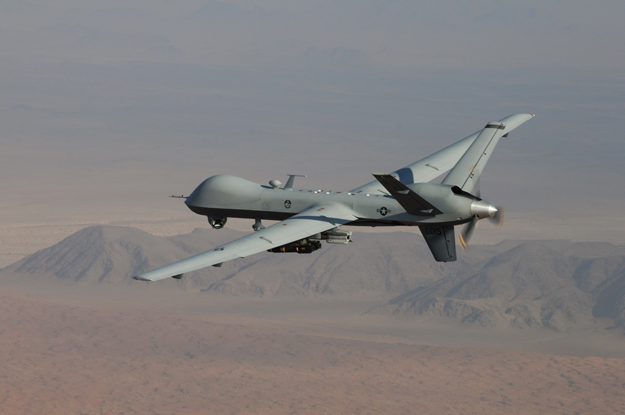 An MQ-9 remotely piloted aircraft.