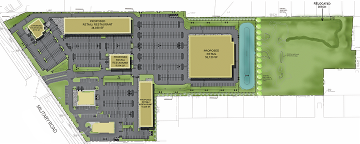A view of the proposed Military Place courtesy of Benderson Development.