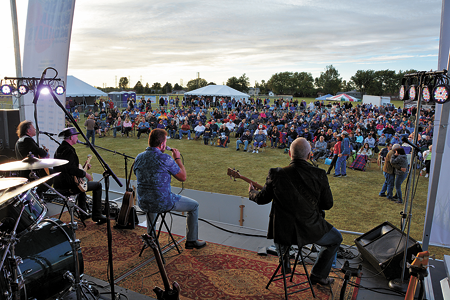 Hotel California takes the stage during last year's Music Mania Mondays concert series. (Photo by Marc Carpenter)