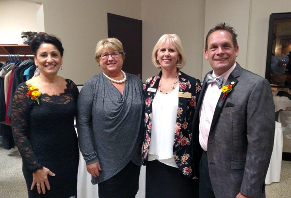 From left, are, Chamber of Commerce of the Tonawandas Executive Director Angela R. Johnson-Renda, chamber board president Phyllis Gentner, chamber board member Cindy Burkett, and Jim Fingerlow (Citizen of the Year awardee).