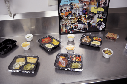 Shown are samples of prepped meals that are delivered to clients.