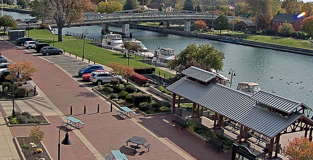 A view of the Erie Canal via new webcam.