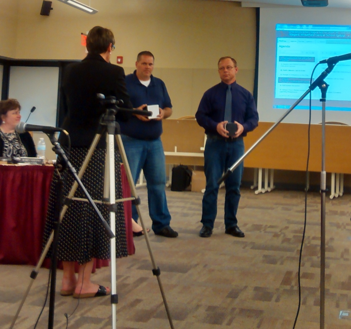 Outgoing N-W board members Richard Halleen and David Breier were honored. (photo by Careen Schroeder)