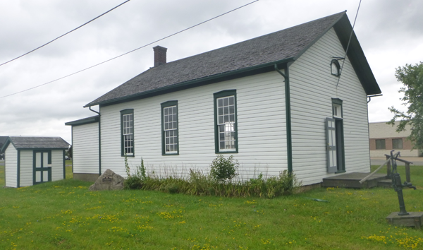 Niagara School No. 2, at the corner of Lockport and Tuscarora roads, is operated as a museum by the Town of Niagara Historical Society. Children attended the one-room schoolhouse from 1878 to 1956. (Photo by Jill Keppeler)