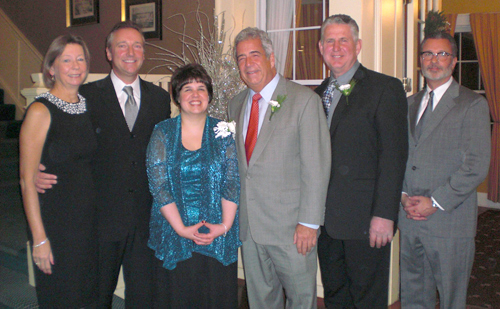 Heroes of Niagara Awards dinner co-chairs Bernie Toellner and James Toellner stand with award recipients Lisa Tribunella, Gary Hall, Gary Strenkoski and Jeffrey Zimmer.