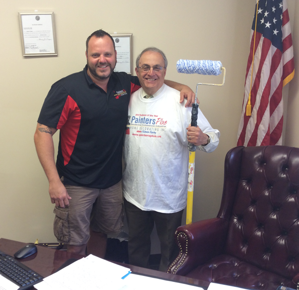 Mayor Art Pappas (right) and Jesse Gooch promote the Project HOPE event.