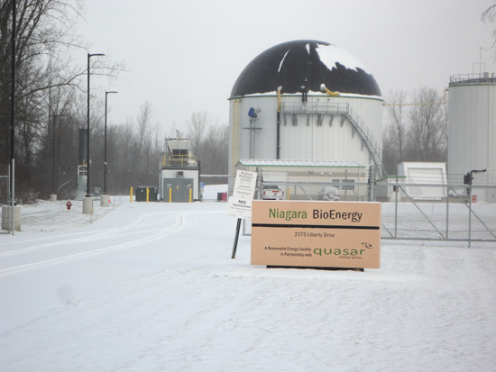 Quasar's anaerobic digester on Liberty Drive was built in late 2013. Since then, the company has faced backlash from residents opposed to the use of biosolids, or sewage sludge, as fertilizer.