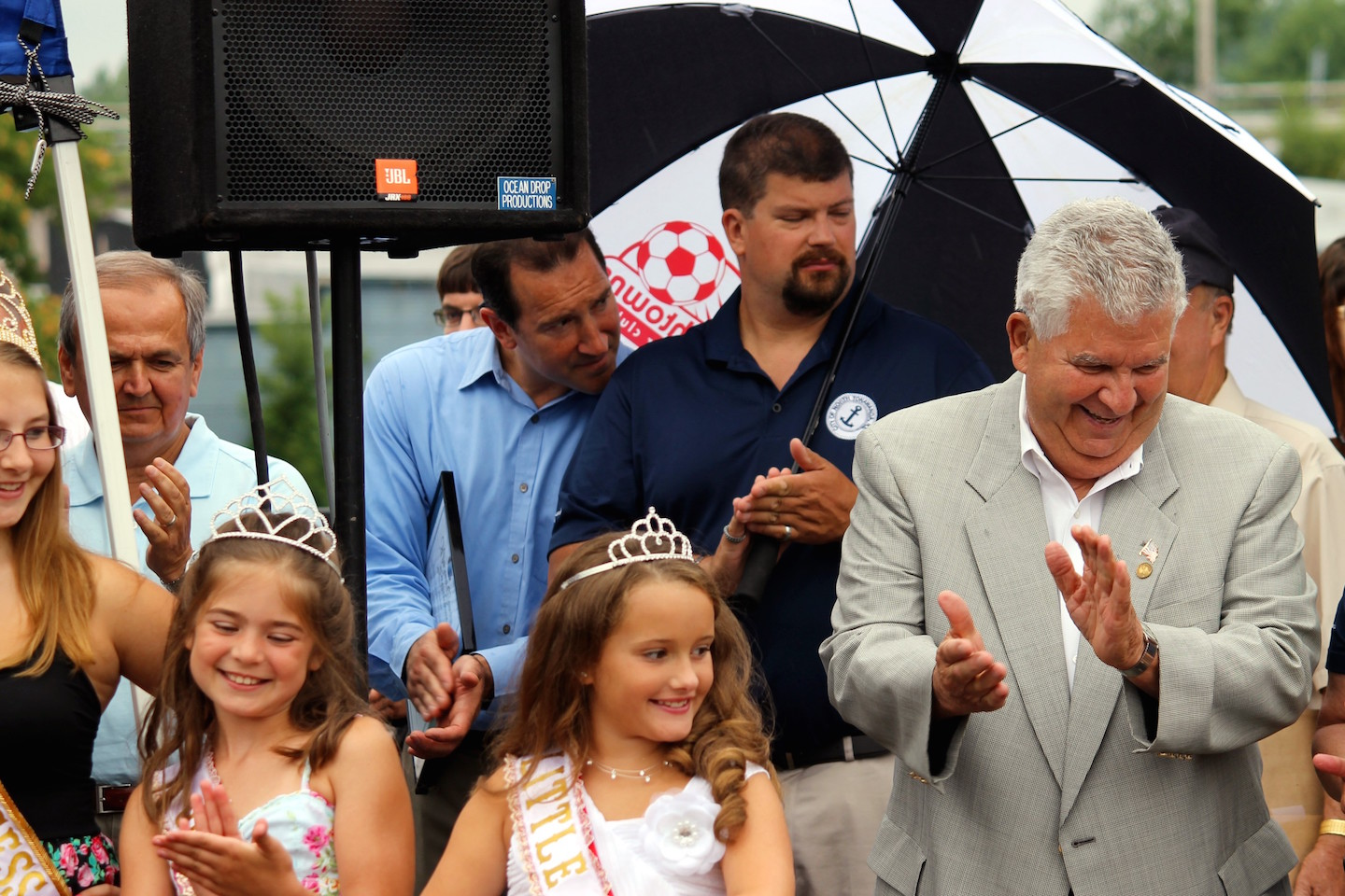 North Tonawanda Common Council President Russ Rizzo with the 2012 Canal Queen.