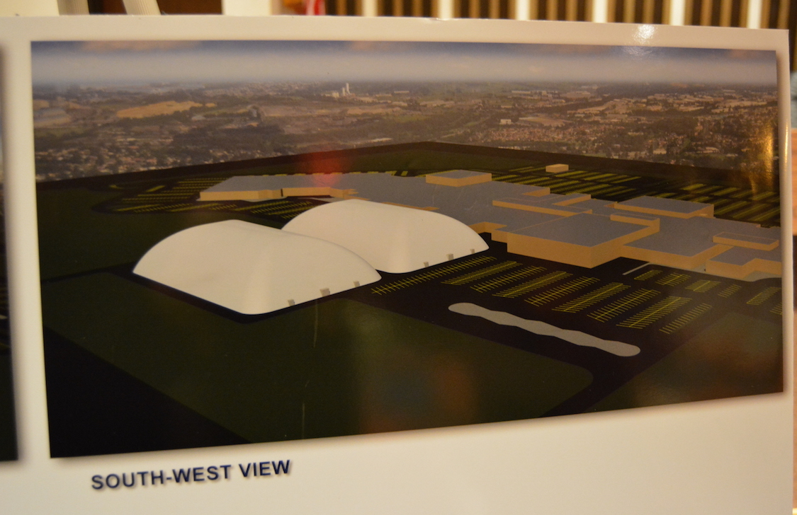 Shown are new site plans for the Niagara International Sports and Entertainment facility at The Summit mall.