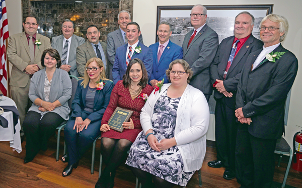 Town of Niagara officials pose for a photo with the Town of Niagara Business and Professional Association annual award recipients.