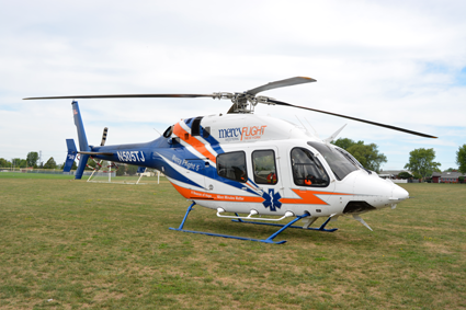 The famous Mercy Flight Western New York helicopter.