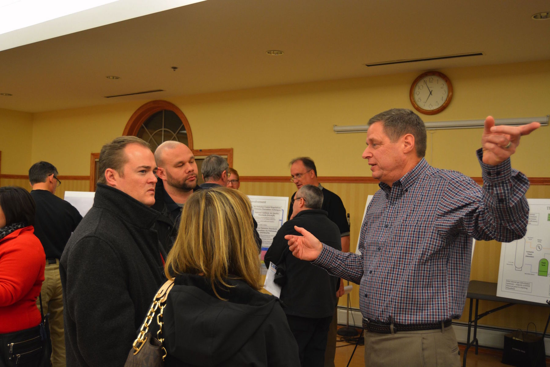 Vice President of National Fuel Gas Supply Corp. Ron Kraemer addresses Wheatfield residents at National Fuel's information forum Wednesday night.