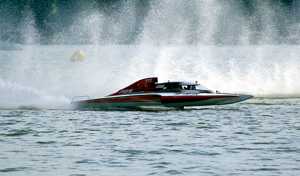 Grand Prix hydroplane boats take part in a race at last year's Thunder on the Niagara event. The boats will once again be in North Tonawanda on Aug. 6 and 7 for the annual hydroplane races at North Tonawanda's Gratwick Riverside Park. (File photo)
