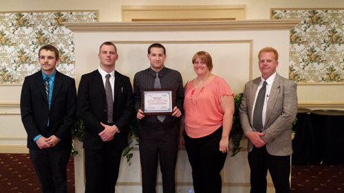 Shown are members of the Tri-Community Ambulance crew that were recognized at the Mount St. Mary's Hospital EMS Awards Dinner. From left: Nate Schmidt, Chris Kassay, Jared Kish, Amanda Ohlson and Ken Black.