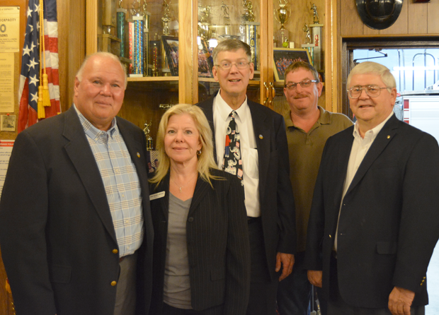 Town of Wheatfield Republicans stand proud as they are elected for another term. From left: Councilman Gilbert G. Doucet, Town Clerk Kathleen M. Harrington-McDonell, Councilman Larry L. Helwig, Highway Superintendent Paul Siegmann and Supervisor Robert B. Cliffe.