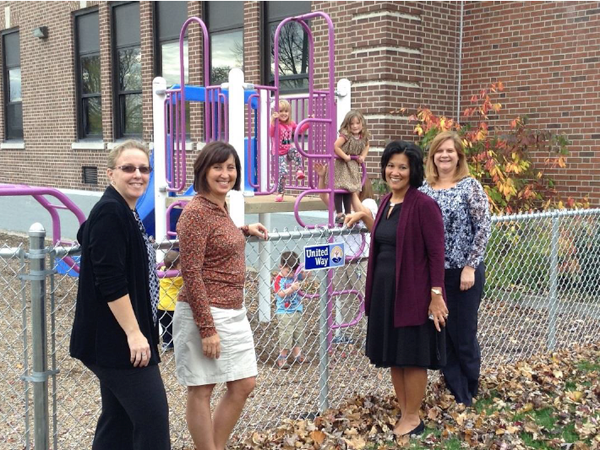 Pictured, from left, are Sarah Peters (YWCA of the Niagara Frontier early childhood program director), Kim Hauptmann (Buffalo Hearing & Speech Center Lockport site program manager), Carol G. Houwaart-Diez (United Way of Greater Niagara president) and Lynn Shea (BHSC early childhood program director).