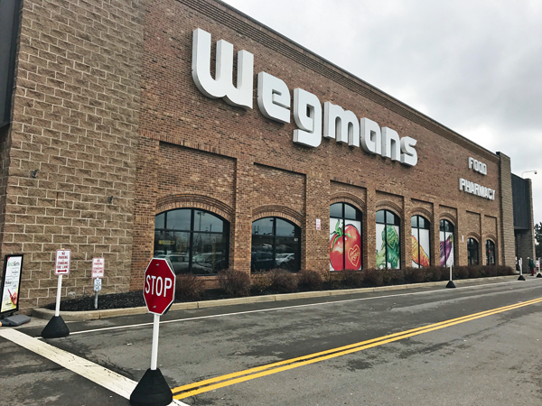 Shown is the storefront of the Wegmans store at Military Road in the Town of Niagara. (Photo courtesy of Wegmans Food Markets)
