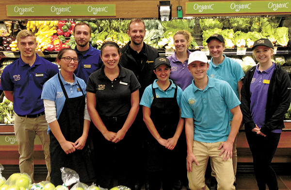 Shown are employees of the Wegmans located on Military Road in the Town of Niagara who are helping organize the first kids carnival to be held Aug. 13.