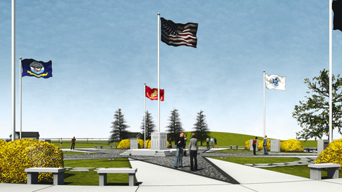 This is what architect and focus group member Timothy Rider envisions the veterans memorial might look like in Fairmount Park.