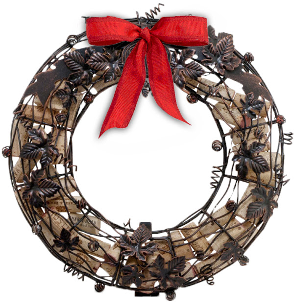 2014 `Holiday Happening` cork cage wreath