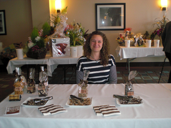 Amber Haick from Jacolatte will participate in `Vines & Wines` for the second year, providing samples of her specialty chocolates.