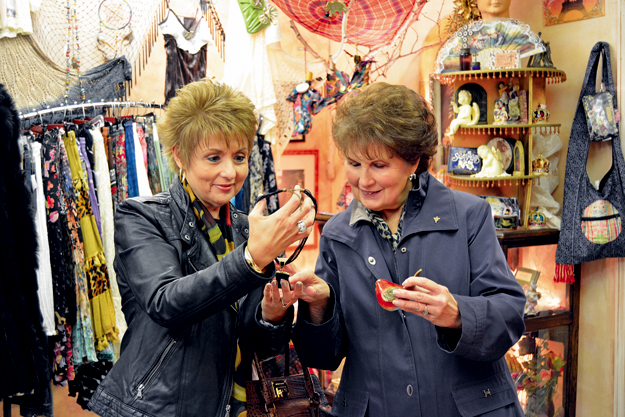 Patti Haan and her mother, Carol Marcucci, of Wheatfield browse a variety of accessories and décor at Hip Gypsy.