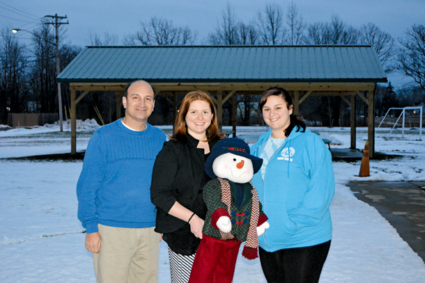 Town of Wheatfield Civic Advisory Focus Group Chairperson Richard Torcasio stands outside the town's Youth Center alongside Program Coordinator, Summer Camp Director, and Winterfest Chairwoman Heather Zeller and Youth Center Coordinator Alana Edel.