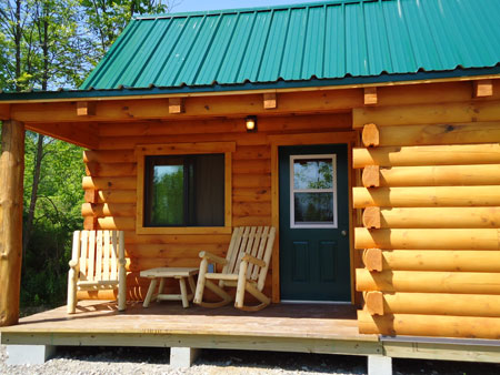 The `Commons,` above, includes a laundry room and a public restroom for campers.