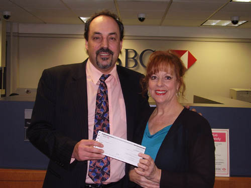 The Grand Island Chamber of Commerce has recognized three gold sponsors of its annual Citizen of the Year Award banquet, which will take place this year on Thursday, April 28. The event honors those who have made Grand Island a better place. Event Chairwoman Beverly Kinney is pictured with, at right, HSBC Bank Branch Manager Mike Samland.