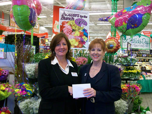 Pictured, from left, is Pattie Bianco of Tops Friendly Markets with Beverly Kinney, Citizen of the Year Award chairwoman.