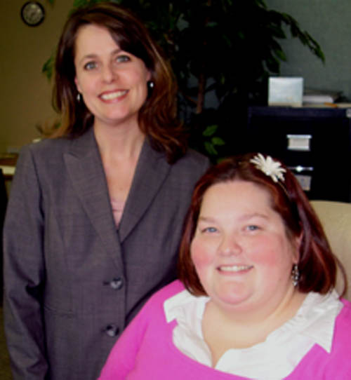 Carolyn Konopski, left, and Kim McMahon have been appointed to positions with the Grand Island Chamber of Commerce.