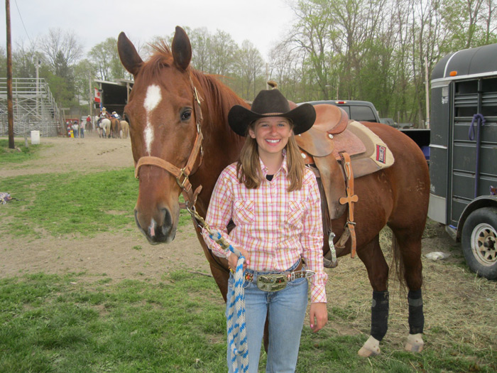 Grand Islander Mary Irving and Maverick will travel west to the National High School Finals Rodeo in Gillette, Wyo., this month.