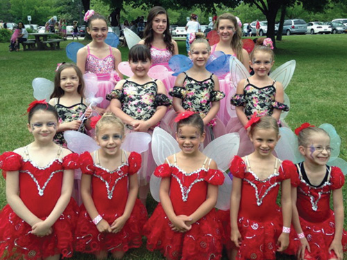 Grand Island Dance Center dancers visited the Fairy House Festival June 8 at Artpark. Below, `Ave Maria` dancers, from left: Lydia Pratt, Theresa West and Gianna Novelli.