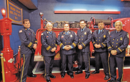 Members of the Grand Island Fire Co. took their oaths of office to newly elected officer positions during ceremonies at fire headquarters Saturday, Jan. 11. Both firematic and administrative officers were sworn-in.