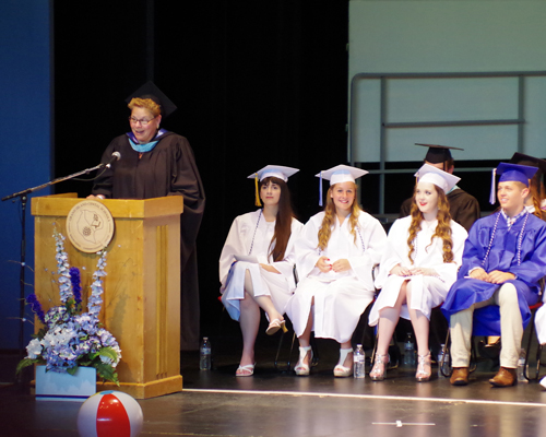 Grand Island High School held its 49th annual commencement ceremony Sunday, June 29, at Artpark in the Village of Lewiston. There were 244 June graduates receiving high school diplomas. (photos by Larry Austin)