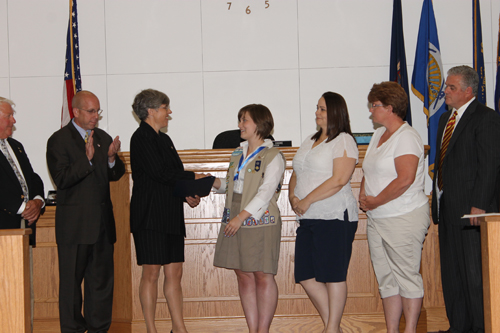 The Grand Island Town Board issued two proclamations at its meeting on Monday. (photo by Larry Austin)